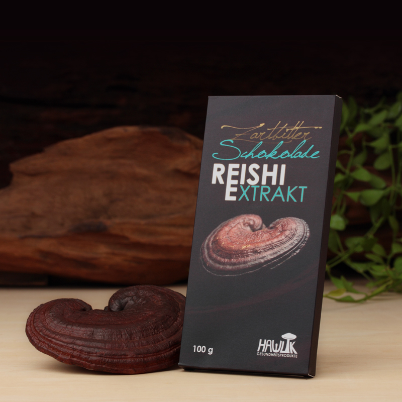 Cioccolato fondente con estratto di Reishi