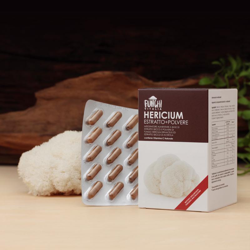 HERICIUM Estratto + Polvere - Scatola normale (120 capsule)